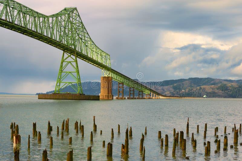 Pont Astoria, Orégon de Megler photos stock
