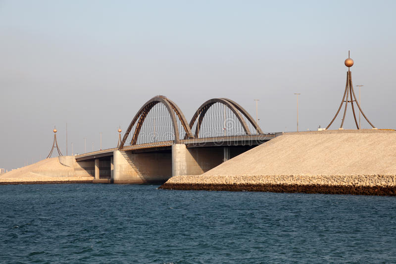 Pont au Bahrain photographie stock