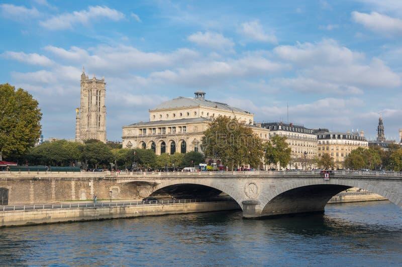Pont au Change in Paris royalty free stock images