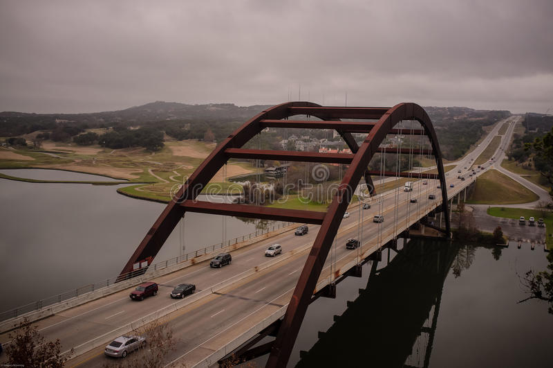 Pont Austin Texas de Pennybacker photographie stock