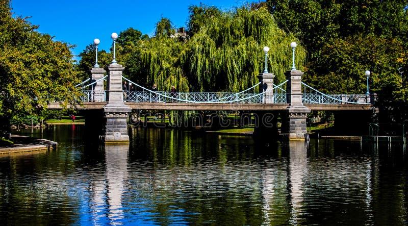 Pont aux jardins publics, Boston, mA photo libre de droits