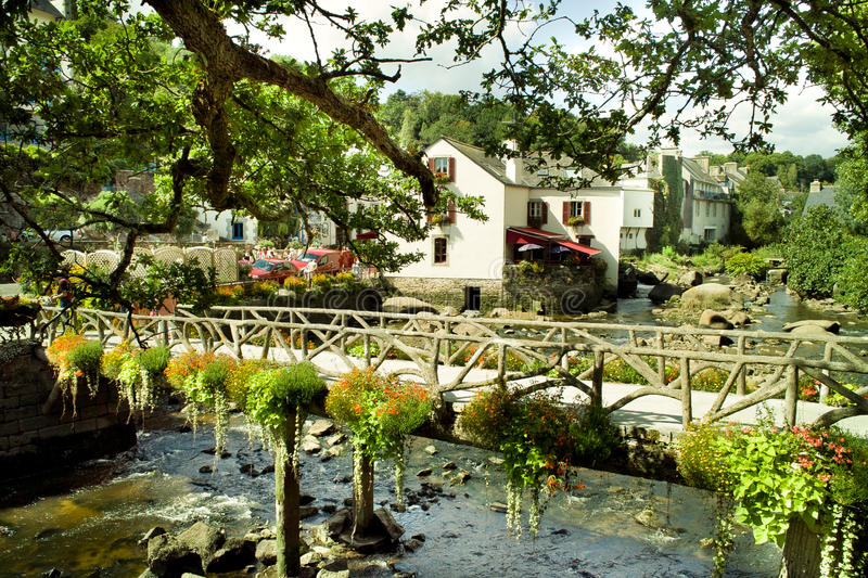 Download Pont aven in brittany stock photo. Image of garden, river - 17429198