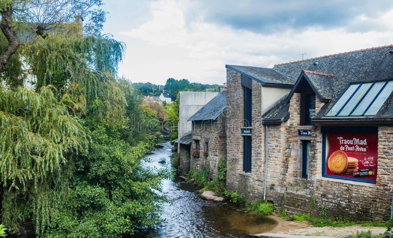 Pont-Aven, une commune dans le département de Finistere de Brittany Bretagne images stock