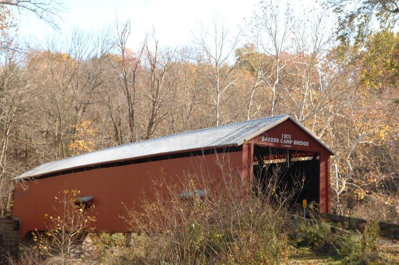 Pont Bakers Camp à l'automne images libres de droits