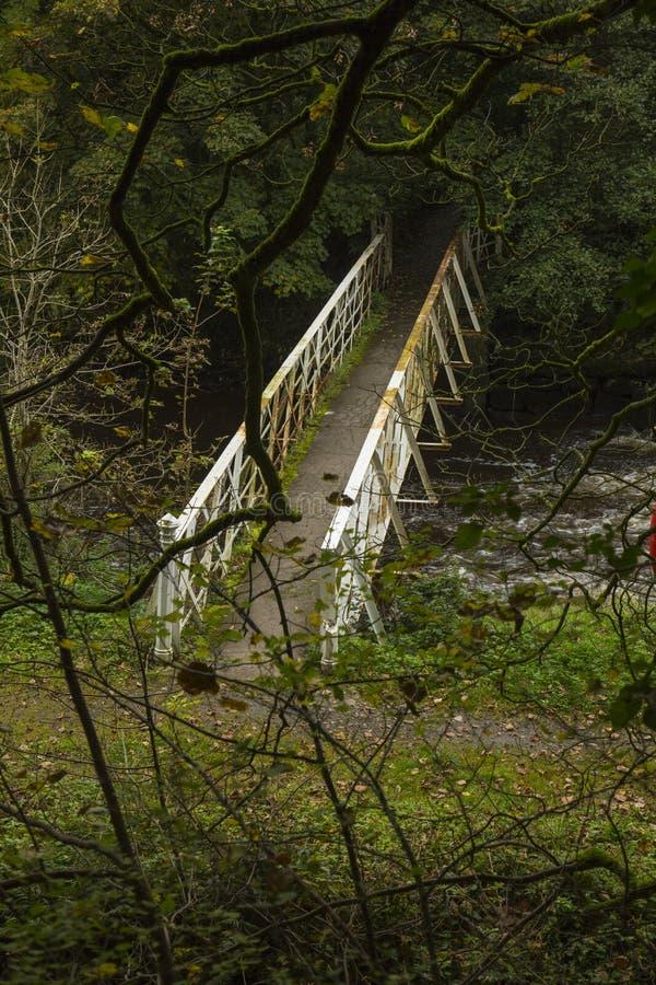 Pont blanc en fer photos libres de droits
