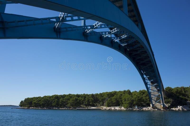 Pont bleu en Croatie photos libres de droits
