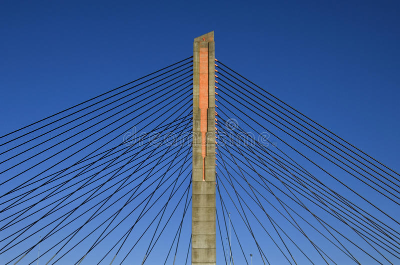 pont Câble-resté, Martinus Nijhoffbrug image stock