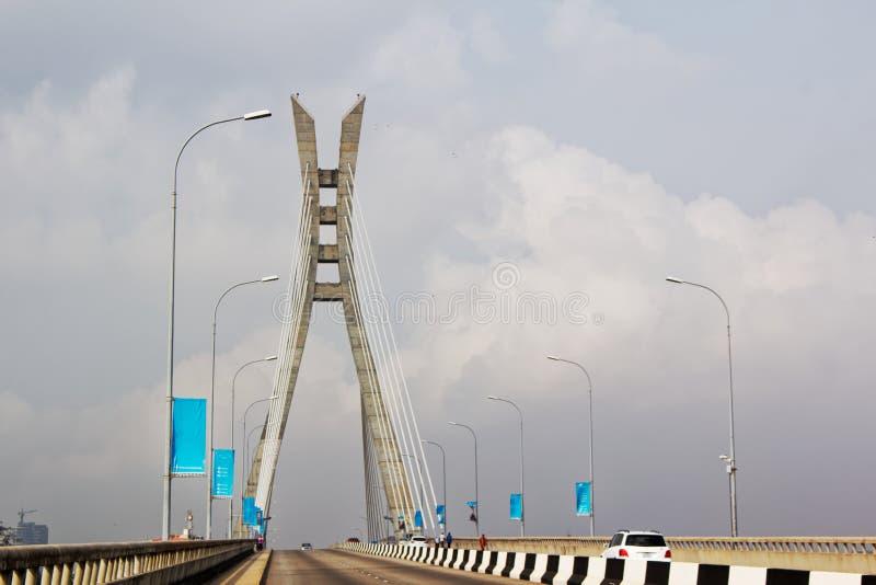 pont Câble-resté, pont suspendu - Lekki, Lagos, Nigéria photos stock
