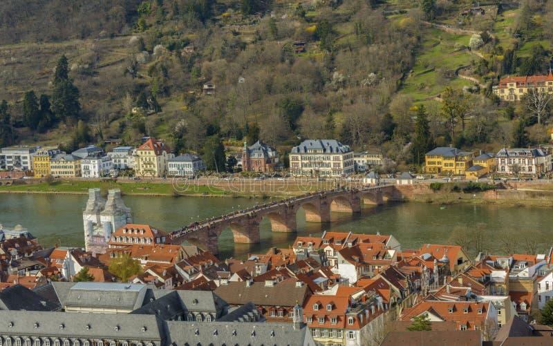 Pont célèbre du ` s d'Heidelberg le vieux, Allemagne photos stock