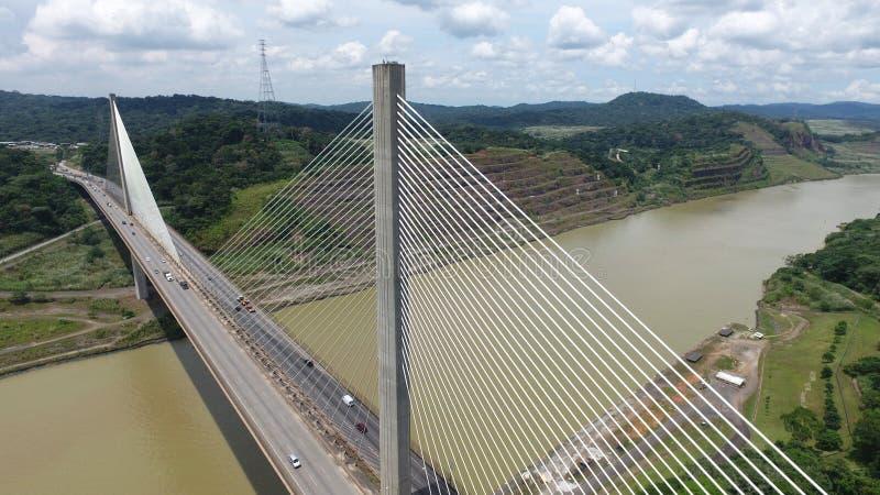 Pont centennal à travers le canal de Panama photos libres de droits