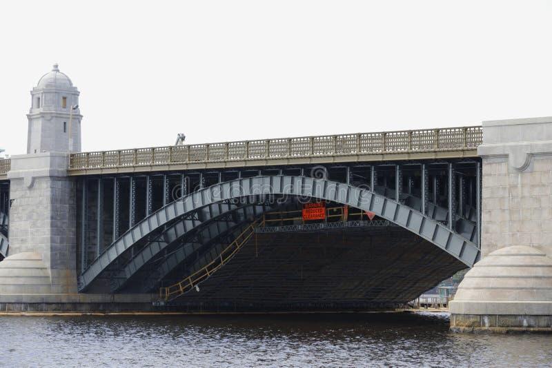 Pont Charles River Boston de Longfellow photo stock