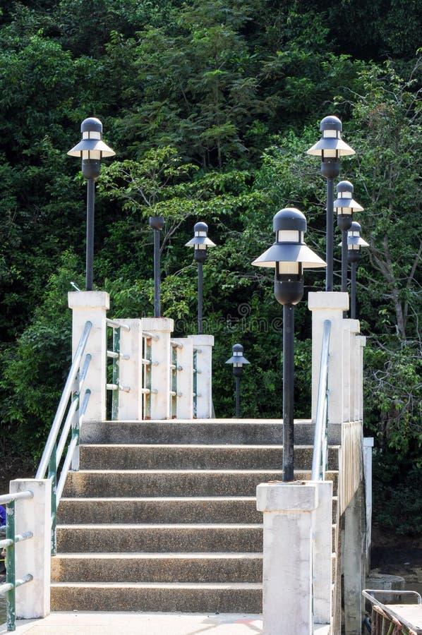 Pont concret à la jungle photos stock