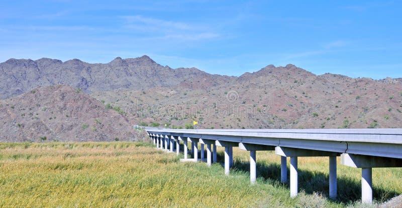 Pont concret enjambant le marais du fleuve Colorado photos stock