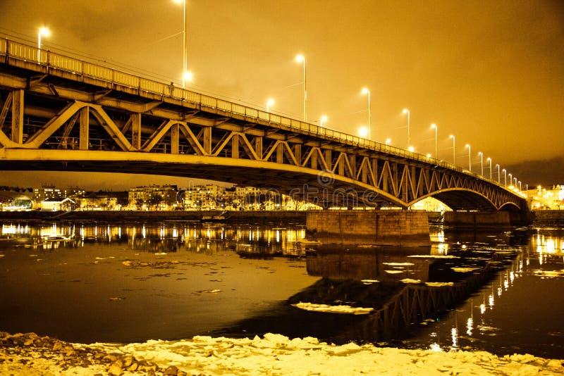 Pont congelé image libre de droits