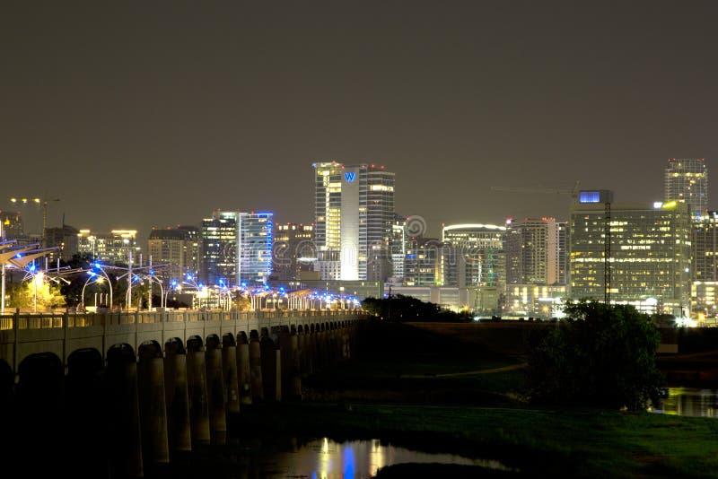 Pont continental et Dallas du centre photographie stock