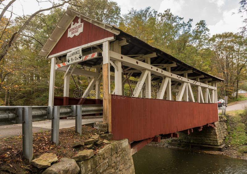 Pont couvert de Burkholder en Garrett Pennsylvania image stock