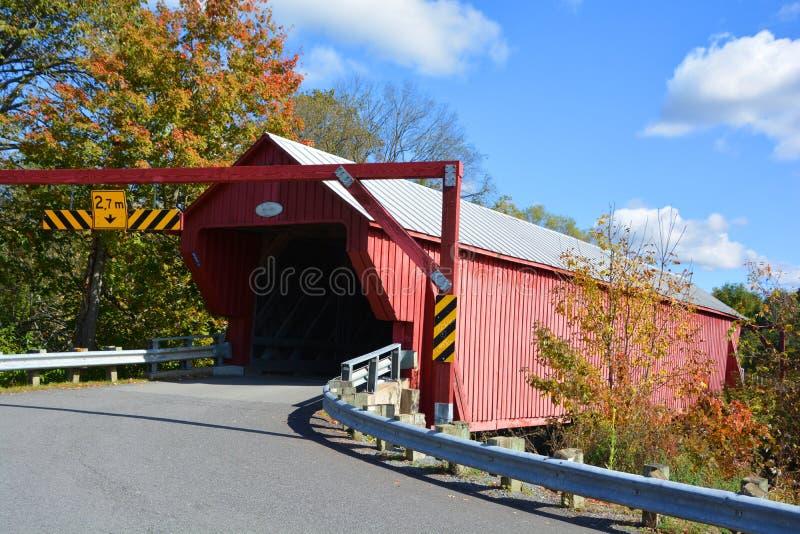 Pont couvert de Freeport photographie stock libre de droits