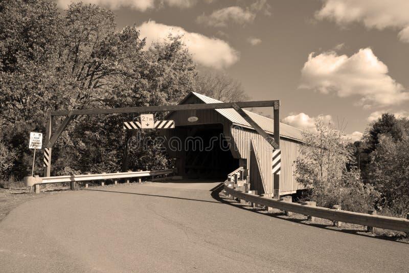 Pont couvert de Freeport image stock
