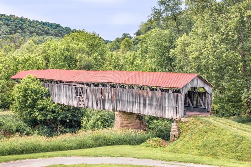 Pont couvert de Knowlton photos libres de droits