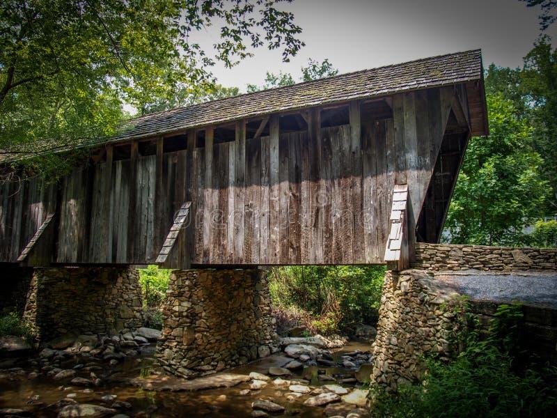 Pont couvert historique de Pisgah image stock