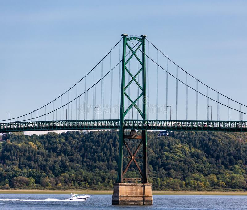 Pont d'île d'Orléans photo stock