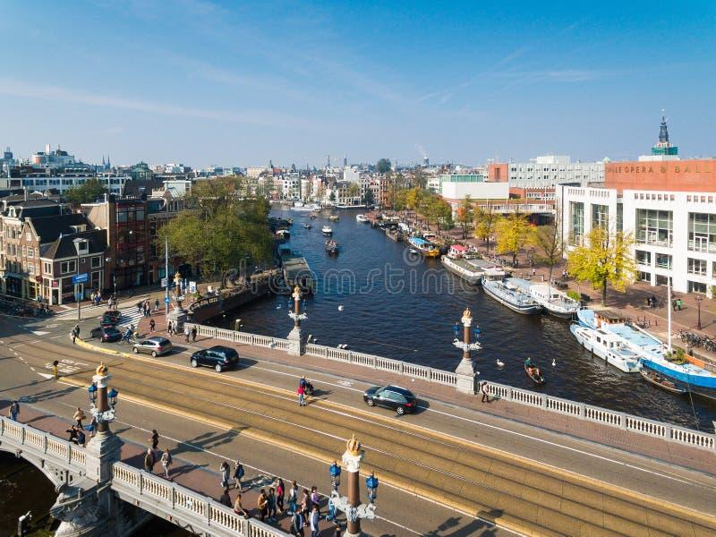 Pont d'Amsterdam, vue d'en haut image stock
