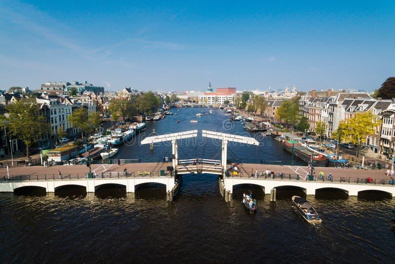 Pont d'Amsterdam, vue d'en haut photo libre de droits