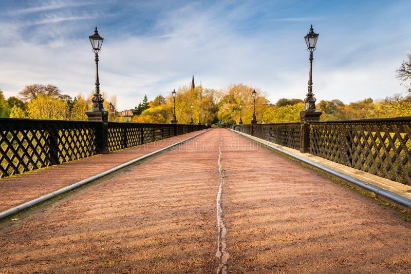 Pont d'Armstrong au-dessus de Jesmond Dene photos libres de droits