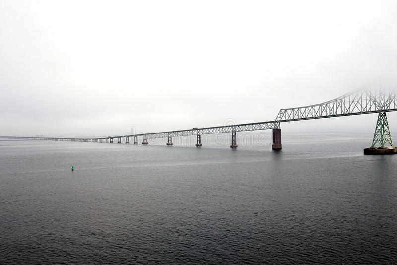 Pont d'Astoria-Megler à Portland, Orégon images stock