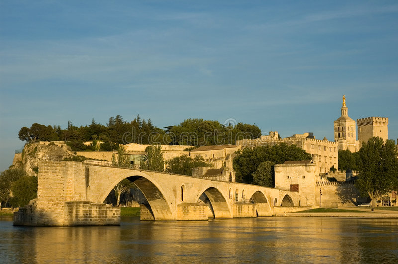 Download Pont d'Avignon stock image. Image of river, avignon, sunset - 170007