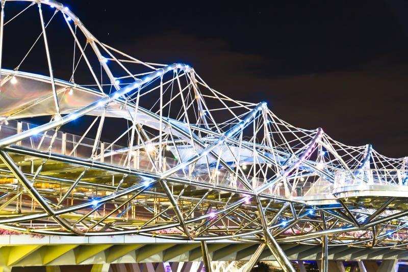 Pont d'hélice, Singapour photographie stock libre de droits
