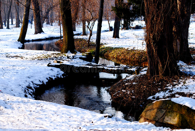 Pont d'hiver images stock