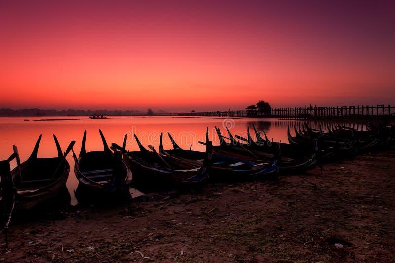 Pont d'U-Bein à Mandalay photographie stock libre de droits