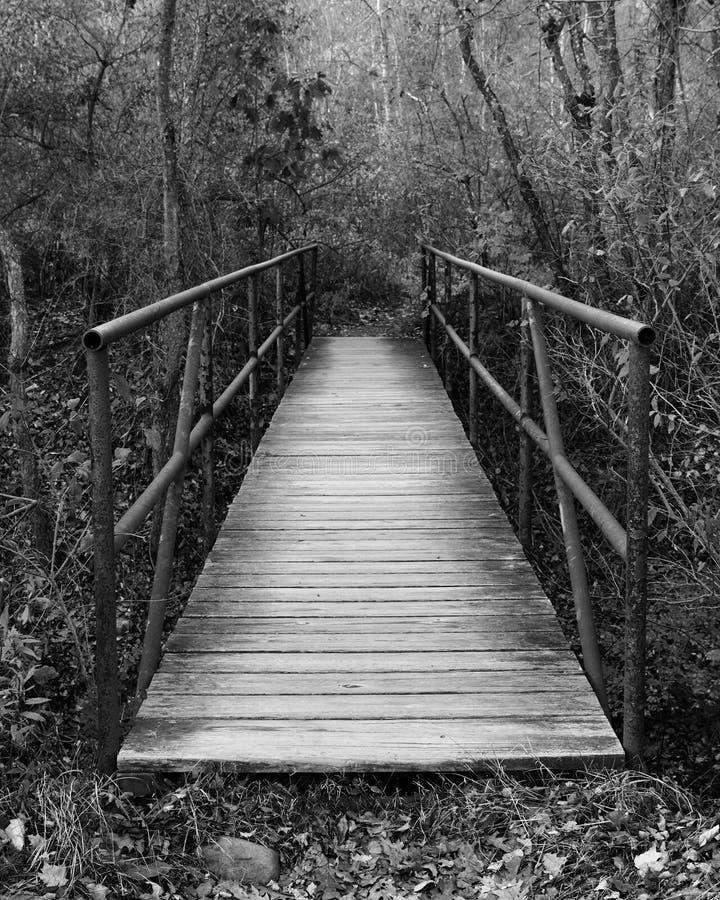 Pont dans l'inconnu photographie stock