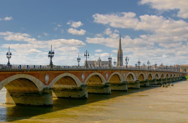 pont de Франции pierre Бордо стоковая фотография rf