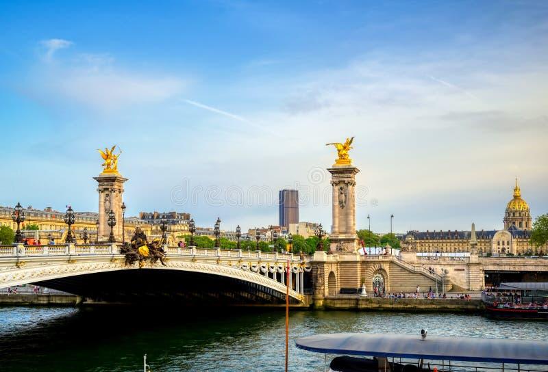 Pont de Pont Alexandre III ? Paris, France images libres de droits