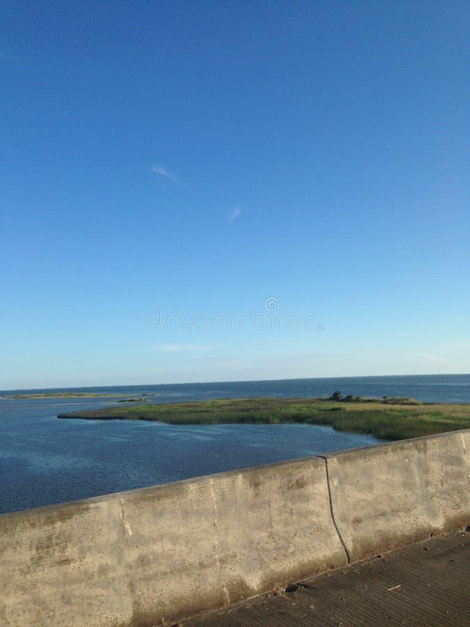 Pont de baie d'Apalachicola photos stock