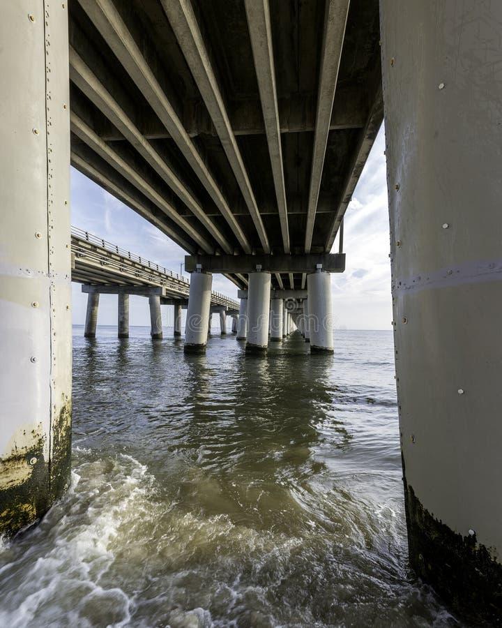 Pont de baie de chesapeake images libres de droits