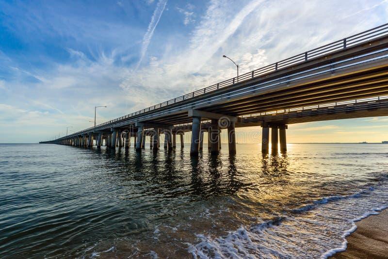 Pont de baie de chesapeake image libre de droits