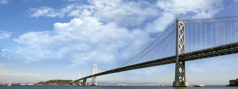 Pont de baie de San Francisco-Oakland images stock