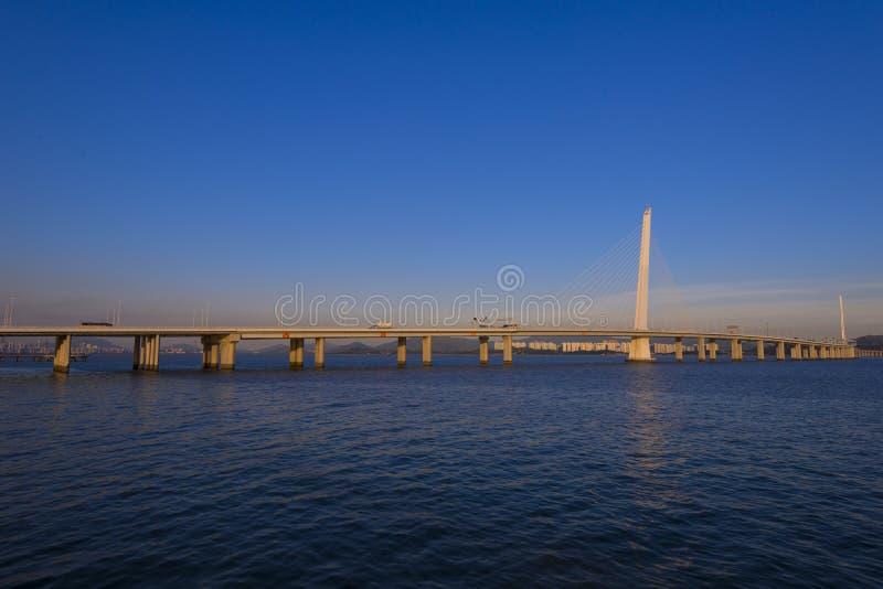 Pont de baie de Shenzhen photo stock