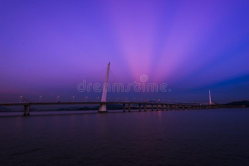 Pont de baie de Shenzhen images libres de droits