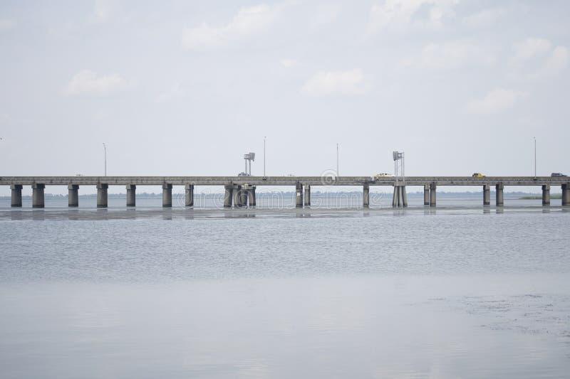 Pont de baie mobile images libres de droits