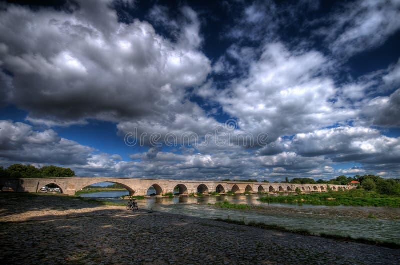 Pont de Beaugency (HDR) fotos de stock