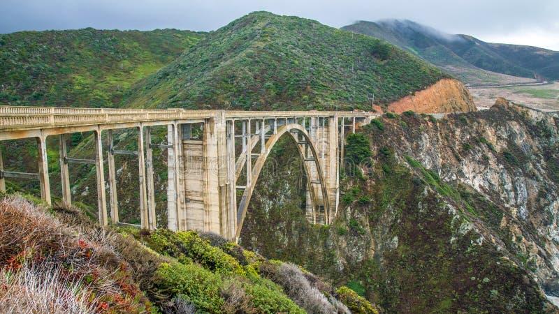 Pont de Bixby, la Californie photos libres de droits