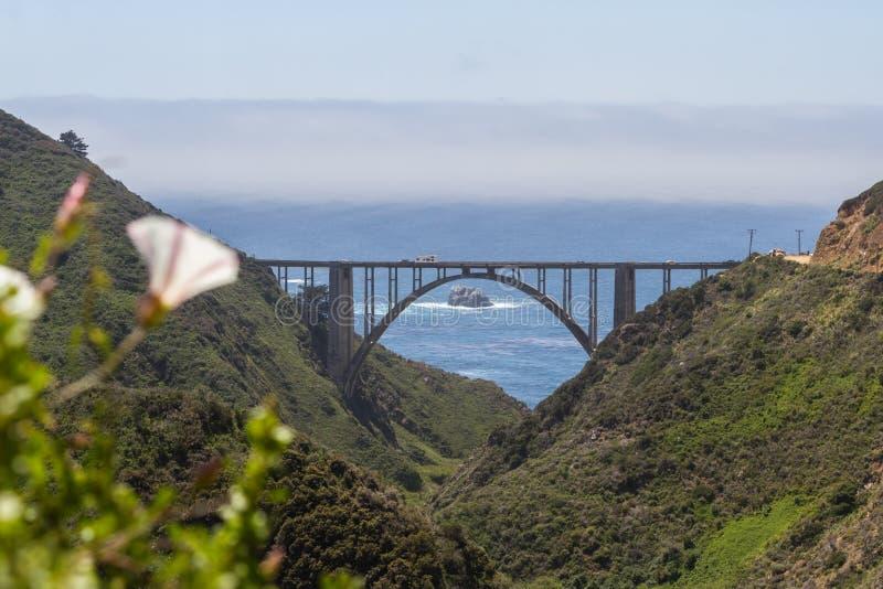 Pont de Bixby, la Californie photo libre de droits