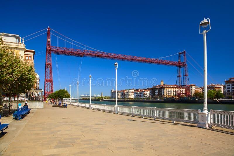 Pont de Bizkaia dans le pays Basque image libre de droits