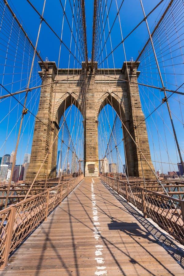 Pont de Brooklyn et Manhattan New York City USA photos libres de droits