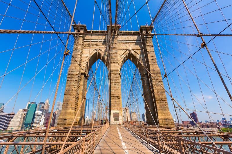 Pont de Brooklyn et Manhattan New York City USA photo libre de droits