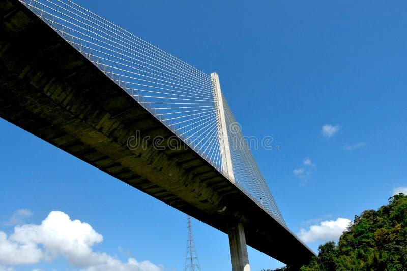 Pont de Centenario au Panama images libres de droits